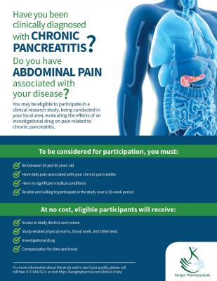 Chronic Pancreatitis Research Study
