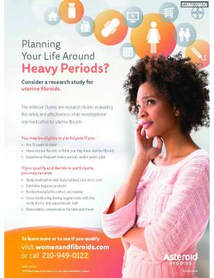 Uterine Fibroids Research - Heavy Periods and/or pelvic pain