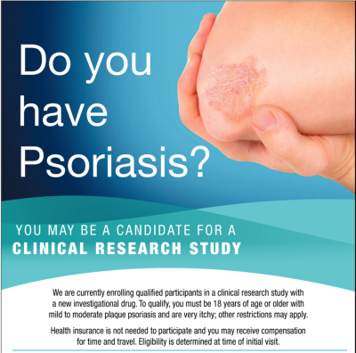 Psoriasis, inflamed skin, silver-white patches